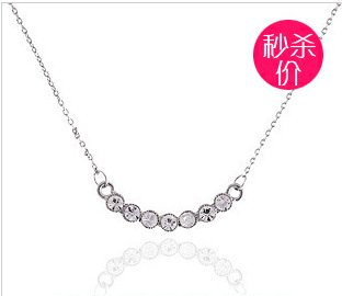 Accessories 2012 full rhinestone necklace fashion aesthetic gentlewomen simple chain lanyards 4250