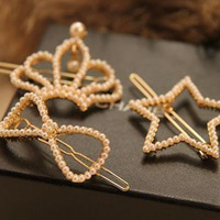 Sunshine store jewelry wholesal fashion pearl studded  hair clip f9 (min order $10 mixed order)