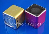 Free shipping (10pcs/lot) Super light Portable Multimedia Mini MP3 Speaker Support USB TF card FM Radio Pure Bass Clear Treble