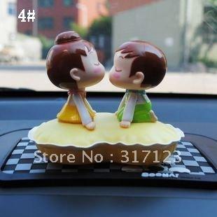 Free shipping (6PCS/LOT) Baby Kiss Solar Solar Power Doll vehicle accessories(China (Mainland))