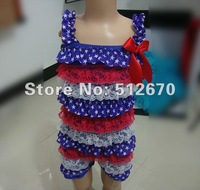 hot sales top quality cute design baby multicolor posh petti lace rompers for infant/baby