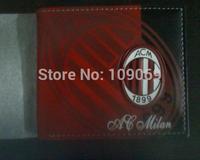 acmilan red purse / football team raised badge PU wallet