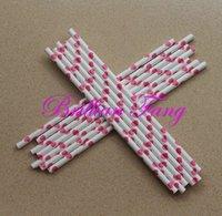 Hot selling 500pcs Color-54 Polka Dot Stripe Paper Straws,  Paper Straws, Drinking Paper Straws Drinking Straws