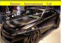 Sales NO.1 !!  1.52*30m black Car Wraps Vinyl with air drain GOOD QUALITY !!  Free shipping!!