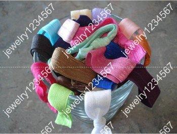 NEWEST girls' Elastic Hair Ties bracelet Ribbon hair tie elastic wristbands ponytail holder  600pcs