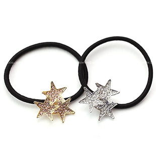 Sunshine store jewelry wholesale fashion five-pointed star hair accessory  E1131 ( $10 free shipping )F036