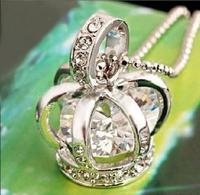 Free Shipping Fashion Nacklaces Pendants 5pcs/pack X-97 full rhinestone necklace