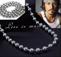Free Shipping Fashion Nacklaces Pendants 5pcs/pack Titanium beads - johnny depp necklace length adjustable