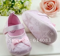 Free shipping wholesale 2012 fashion chic glossy pink delicate embroidery princess shoes style prewalkers/infant shoes /bb shoes