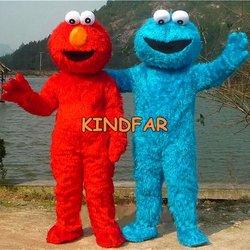 Couple Sesame Street Cookie and ELMO Mascot Costume Adult Cartoon Halloween ...