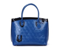 Hot! Women Bags Of 2012 Autumn Fashion Leisure Ladies Handbag Lingge embossed Genuine Leather Ladies Shoulder Bag