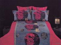New Beautiful 4PC 100% Cotton Comforter Duvet Doona Cover Sets FULL / QUEEN / KING SIZE bedding set 4pcs Dragon FS-330