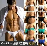 2014 hot sale Cocksox panties low-waist trigonometric panties male u bag male 100% cotton week panties