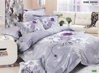 New Beautiful 4PC 100% Cotton Comforter Duvet Doona Cover Sets FULL / QUEEN / KING SIZE bedding set 4pcs purple KMR09339