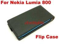 2013 New Slim Flip Case Genuine Leather Case Mobile phone case for Nokia Lumia 800