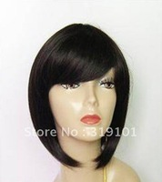 Free shipping-new arrival fashion ladies' short bobo synthetic wigs  black everyday wigs  dropshipping