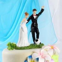 Free shipping 6*11*16cm Happy Bride & Groom Figurine Wedding Cake Topper Decoration