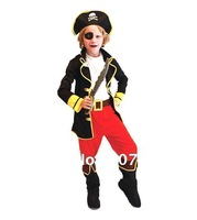 Halloween Costume Children's pirate clothing Pirate Captain Jack Performance stage