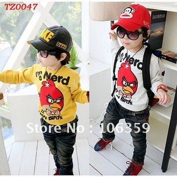 Free Shipping Baby T Shirt Tops Children Hoodie Clothes Sweatshirt Kids Clothing Long Sleeves Baby Tees 4pcs