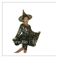 Children Costume Halloween Costume Witch Costume bronzing stage performance clothing Retail
