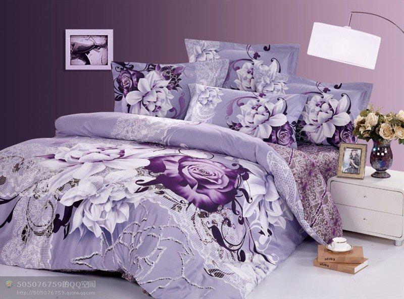 Light purple comforter promotion online shopping for - Light purple comforter set ...