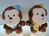 Free shipping naughty monkey plush toy/  fall in love/ child birthday gift