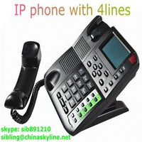4 line SIP IP telephone EP8201 / VOIP phone telephone support SIP and H,323