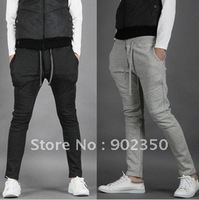 free shipping 2012 autumn casual pants,mens fashion sport trousers,leisure cotton sweatpants,solid color desgin long pants M-XXL