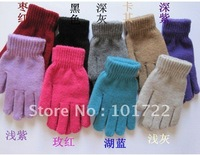 FREE SHIPMENT,Fashion lady's winter warm gloves,knitting gloves,plain color,free size