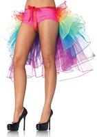 Rainbow 8 Layered Girls TuTu Fishtail Gauze Skirts Mesh Sexy Belly Dance Tutu Mermaid Bottoms Long Skirts Saias Grunge Clubwear