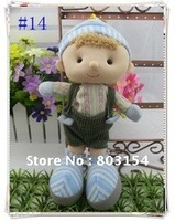 8inch baby doll Fashion clothes Cute boy girl kids toys Christmas gifts 10PCS/LOT Free shipping