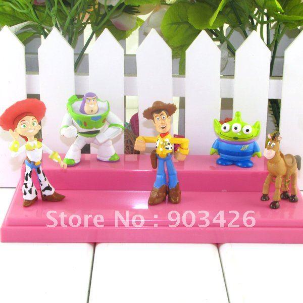 Free Shipping By DHL!! Christmas Gift Toy Story 3 PVC Toy Model Figure Set (5cs/set) G1702 Wholesale(China (Mainland))