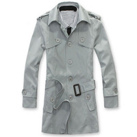 2012 trend autumn and winter handsome tide of male trench outerwear male hot-selling
