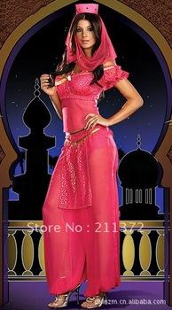 Belly Dancer Genie Princess Jasmine Aladdin Arabian Nights Fancy Dress Costume