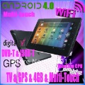 Delicate7&quot;tablet android 4.0 with Capacitive+WIFI+GPS+ISDB-T/DVB-T+2Camera+FM-T,tablet android 1gb ram,4g,external 3G,freeship