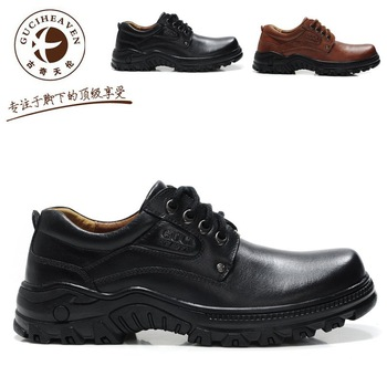 2012 Free shipping Brand Men's Casual Leather shoes Business shoes Fashion outdoor footwear Rubber botton Brown/Black 51201#