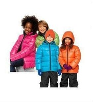 2012 free shipping fashion children's clothing candy color bread wadded boy gril cotton-padded down jacket