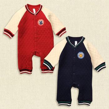 Autumn NISHIMATSUYA bebê jaqueta esporte de algodão acolchoado de manga comprida macacão romper romper