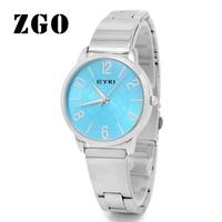 Zgo quartz watch brief fashion women's table steel watchband watch casual table watch 8555