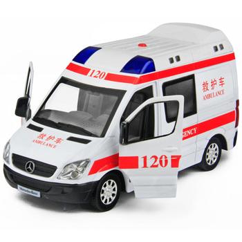 Toy car toy car alloy WARRIOR cars ambulance 120 4 siren flash