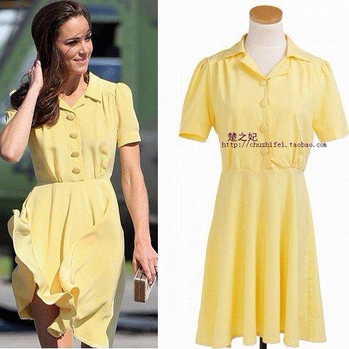 yellow dress kate middleton