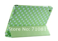factory price Dot Wavepoint Leather Case cover Stand Holder for ipad2 3 Stand Holder
