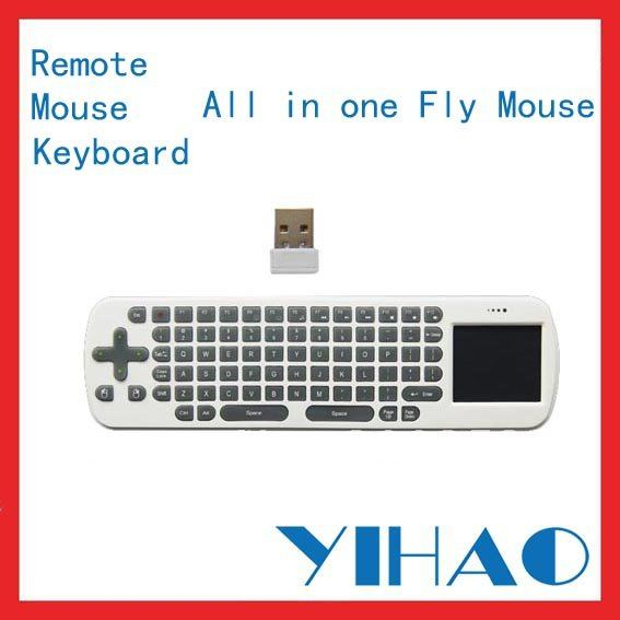 RC12 Fly air mouse wireless keyboard 2.4G for Mini PC Android TV Box and Smart TV Media player free shipping(China (Mainland))