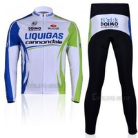 HOT wholesale spring and autumn Liquigas clothing  Wear Cycle bike Long Sleeve  Cycling Jersey + pants set
