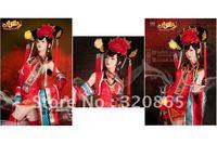 Shaman king/YeWang/hemp bin good/set up rather princess/tea brown cosplay wig