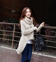 Latest top fashion brand design women turtleneck sweater, big size leisure knitted cape, free shipping long winter pullover