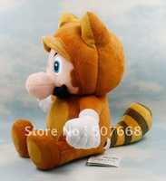 New Kitsune Tanooki Plush Doll Toy 8 inch 20cm Super Mario Bros Fox Luigi Retail