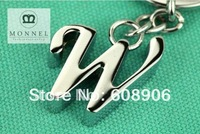 "Z343a Brand New Cute Letter ""W"" thick Charm Metal Keychain Key Ring"
