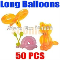 Free Shipping 50pcs/lot Long Balloons Animal Tying Making DIY Decoration Latex Twist Assorted Party