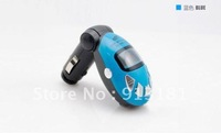 500pcs Wholesale Car MP3 Player Foldable FM Transmitter  with USB/SD/MMC/Slot  support + free shipping by DHL